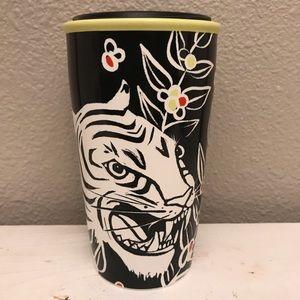 White tiger LIMITED EDITION Starbucks 12 Oz mug